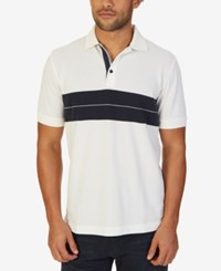 Nautica Men's Bold Striped Polo Marshmallow