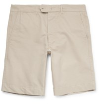 Officine Generale Fisherman Cotton Twill Shorts Stone