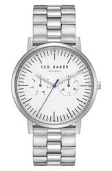 Ted Baker London Brit Multifunction Bracelet Watch 40Mm Silver Stainless Steel