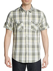 Bench Malaxer Short Sleeve Plaid Shirt Grey