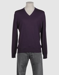 Della Ciana Knitwear V Necks Men Deep Purple