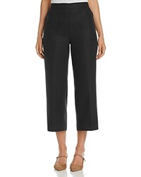 Basler Cropped Linen Pants Black