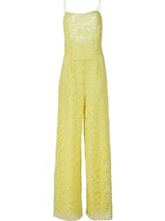 Adam By Adam Lippes Adam Lippes Strapless Jumpsuit Yellow And Orange