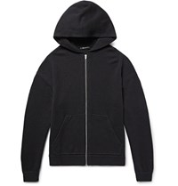 Alexander Wang Wool And Cashmere Blend Zip Up Hoodie Black