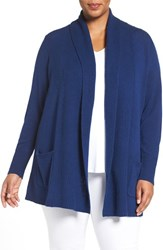 Sejour Plus Size Women's Open Front Wool And Cashmere Cardigan