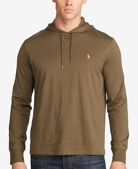 Polo Ralph Lauren Men's Big And Tall Featherweight Pima Hoodie Green