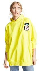 Michaela Buerger Oversized Perfume Bottle Hoodie Yellow