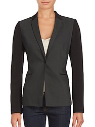Tahari Diamond Tailored Jacket Dark Grey