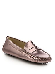 Tod's Gommini Patent Leather Ombre Drivers Pink