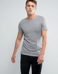 Jack And Jones Longline T Shirt With Zip Grey