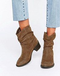 Miss Kg Travis Slouchy Ankle Boots Tan Synthetic Brown