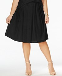Ing Plus Size Pull On Lace A Line Skirt Black