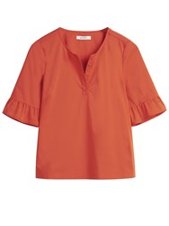 Sandwich Frill Sleeve Blouse Red