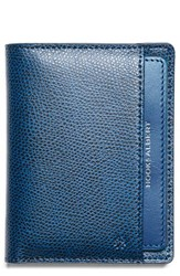 Hook Albert Men's Leather Bifold Wallet Blue Navy