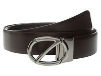 Z Zegna Reversible Bpolg1 H35mm Belt Dark Brown Black Men's Belts