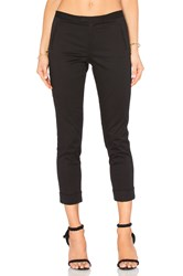 Atm Anthony Thomas Melillo Stretch Twill Slim Crop Pant Black