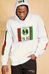 Forever 21 Cross Colours Ya Dig Hoodie White
