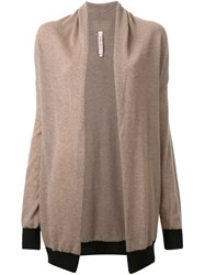 Antonio Marras Draped Open Front Cardigan Nude And Neutrals
