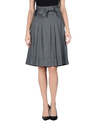 Mariella Rosati Knee Length Skirts Grey