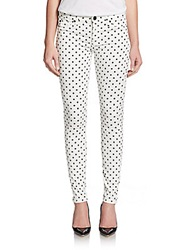 Hudson Polka Dot Skinny Jeans Cloud Nine