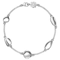 Dower And Hall Mixed Pebble Chain Bracelet Silver
