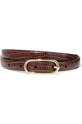 Andersons Anderson's Lizard Effect Leather Belt Burgundy