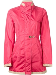 Fay Stand Collar Coat Pink And Purple