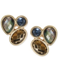 Lonna And Lilly Gold Tone Cluster Stud Earrings
