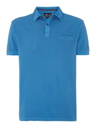 Army And Navy North Pique Polo Shirt Cornflower