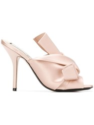 N 21 No21 High Knot Detailed Mules Neutrals