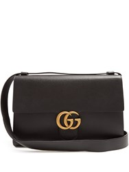 Gucci Gg Marmont Grained Leather Messenger Bag Black Multi
