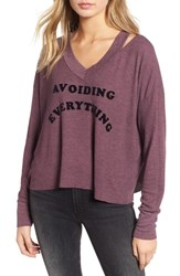 Wildfox Couture Hayley Avoiding Everything Top Crushed Berry