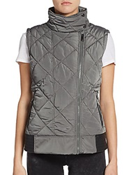 Marc New York By Andrew Marc Performance Funnel Neck Puffer Vest Graphite