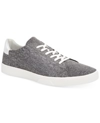 Calvin Klein Men's Heathered Knitted Sneakers Men's Shoes Grey Melange