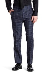 Paisley And Gray Blue Glenplaid Flat Front Trouser 32 Inseam