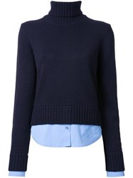 Michael Kors Roll Neck Jumper Blue