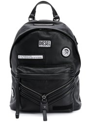 Diesel Le Zipper Backpack Black