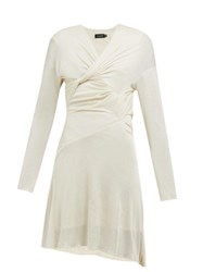Atlein Draped Silk Jersey Dress Ivory