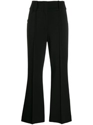 Dorothee Schumacher Pintuck Flared Trousers Black