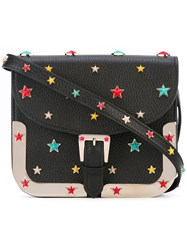 Red Valentino Star Studded Crossbody Bag Women Cotton Calf Leather Leather Metal One Size Black