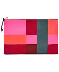 Fossil Large Patchwork Pouch Bright Patch