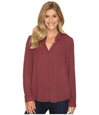 B Collection By Bobeau Herriot Woven Blouse Raisin Women's Blouse Brown