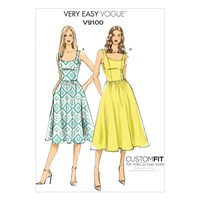 Vogue Very Easy Women's A Line Sleeveless Dress Sewing Pattern 9100