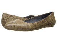 Dr. Scholl's Really Stucco Oppel Snake Women's Flat Shoes Tan