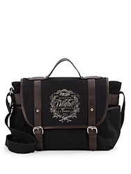 Wildfox Couture Paris Crest Canvas Messenger Bag Black