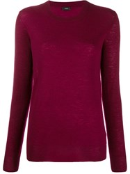 Joseph Cashmere Jumper Red