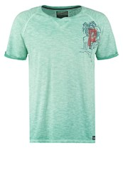 Petrol Industries Print Tshirt Lagoon Light Green