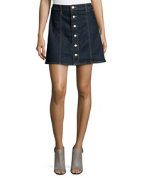 Alexa Chung For Ag The Kety Button Front Denim Skirt Lonestar