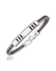 Forzieri Di Fulco Stainless Steel Bracelet With Plaque