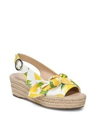 Franco Sarto Pirouette Lemon Slingback Espadrille Wedges Yellow